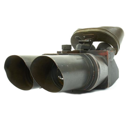 Original German WWII Flak D.F. 10 x 80 Binocular Optics by Emil Busch AG in Luftwaffe Blue Original Items