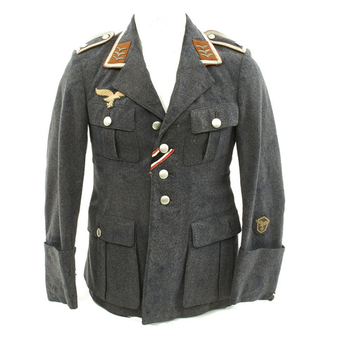 Original German WWII Luftwaffe Signals Feldwebel Flight Blouse Fliegerbluse Tunic Original Items