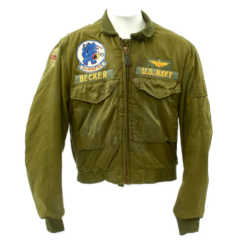 Original U.S. Vietnam Hunting Club Helicopter Attack Squadron MA1 Type Flight Jacket Original Items