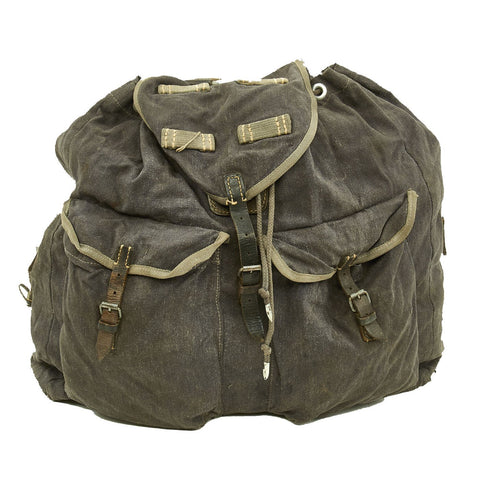 Original German WWII M41 Luftwaffe Blue Tornister Backpack with Shoulder Straps Original Items