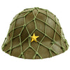 show larger image of product view 1 : Original Imperial Japanese Army WWII Last Ditch Converted Type 90 Civil Defense Helmet with Net Original Items