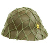 show larger image of product view 3 : Original Imperial Japanese Army WWII Last Ditch Converted Type 90 Civil Defense Helmet with Net Original Items