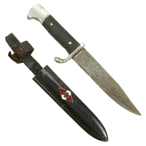 Original German WWII BDM League of German Girls in the Hitler Youth Knife with Scabbard Original Items
