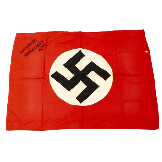 "Original German WWII USGI Captured and Signed Wehrmacht Heer Army Camp Flag - 31"" x 22.5"" Original Items"