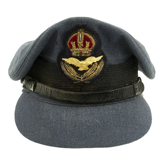 Original British WWII Royal Canadian Air Force RCAF Officer Visor Cap by Muir Cap Co. - Size 6 7/8 Original Items