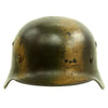 show larger image of product view 3 : Original German WWII Luftwaffe Double Decal Normandy Camouflage M35 Helmet - SE64 Original Items