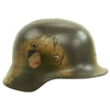 show larger image of product view 4 : Original German WWII Luftwaffe Double Decal Normandy Camouflage M35 Helmet - SE64 Original Items