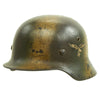 show larger image of product view 8 : Original German WWII Luftwaffe Double Decal Normandy Camouflage M35 Helmet - SE64 Original Items