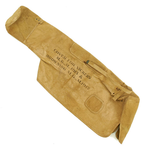 Original U.S. WWI Canvas Machine Gun Cover for Colt-Vickers M1915 & Browning M1917 - dated 1918 Original Items