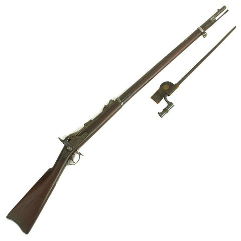 Original U.S. Springfield Trapdoor M1873 Rifle made in 1884 with Bayonet in N.J. Scabbard - Serial No 242628 Original Items