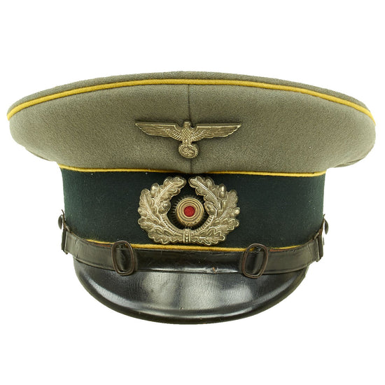 Original German WWII Army Heer Named Signals EM & NCO Visor Cap by G. Lapf - Size 57 Original Items