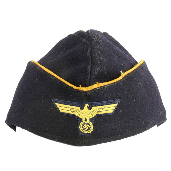 Original German WWII Kriegsmarine Female Auxiliaries M38 Overseas Wool Cap size 56 - dated 1944 Original Items