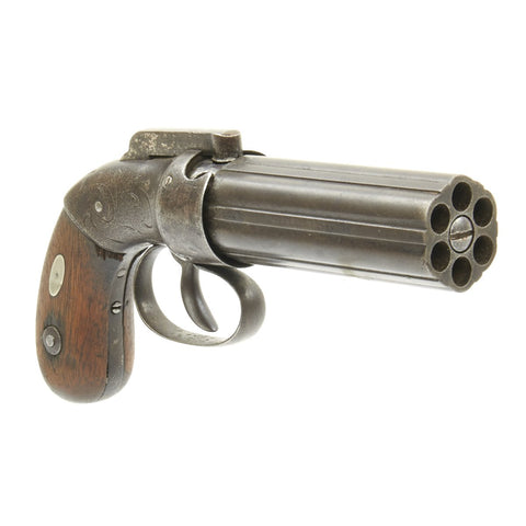 Original U.S. 19th Century Allen & Thurber 1837 Patent Percussion Pepperbox Revolver Original Items