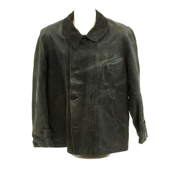 Original Imperial German WWI Aviator's Leather Jacket Pilot Coat Original Items