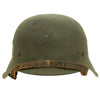 show larger image of product view 9 : Original German WWII M42 Single Decal SS Helmet by Emaillierwerke AG with Liner & Chinstrap - 66cm Shell Original Items