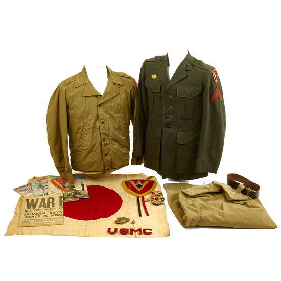 Original U.S. WWII USMC Battle of Iwo Jima Named 5th Marine Division Grouping - Sergeant Leland Mowry Jr Original Items