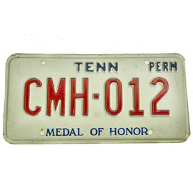 Original U.S. Medal of Honor State of Tennessee License Plate