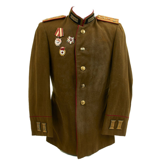 Original Soviet WWII Artillery Colonel Uniform Field Uniform Jacket Original Items