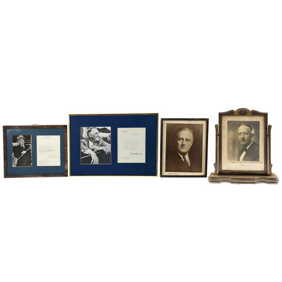 Original WWII U.S. Political Leader Signature Collection: President Franklin Roosevelt, President Harry Truman, Governor Alfred Smith Original Items