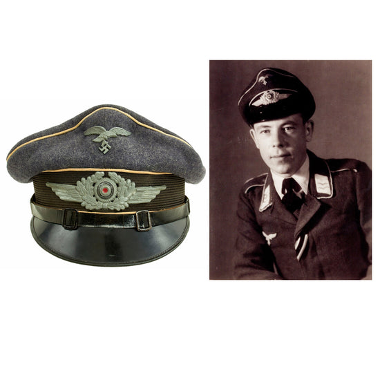 Original German WWII Luftwaffe Hermann Göring Divison Named NCO Visor Cap by J. Sperb Original Items