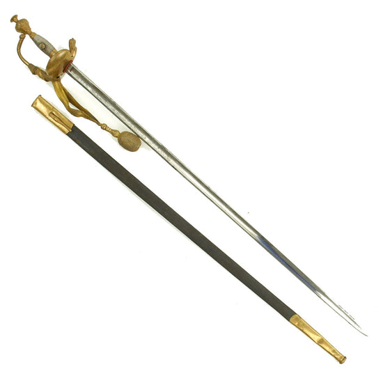 Original Prussian Court Degen Épée Sword named to Field Marshall Wilhelm von Hahnke by Eickhorn - Dated 1851 & 1898 Original Items