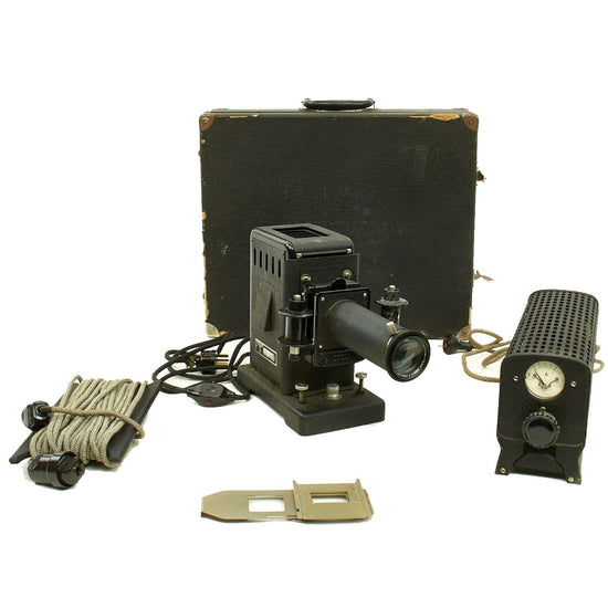 Original German WWII Small Photo Projector Diafant Model I by L.W. Reiser in Case - Kleinbildwerfer Original Items