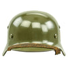 show larger image of product view 3 : Original German WWII Army Heer M35 Single Decal Steel Helmet with Buffed Original Paint - SE62 Original Items