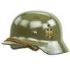 show larger image of product view 4 : Original German WWII Army Heer M35 Single Decal Steel Helmet with Buffed Original Paint - SE62 Original Items