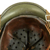 show larger image of product view 12 : Original German WWII Army Heer M35 Single Decal Steel Helmet with Buffed Original Paint - SE62 Original Items