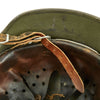 show larger image of product view 13 : Original German WWII Army Heer M35 Single Decal Steel Helmet with Buffed Original Paint - SE62 Original Items