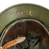 show larger image of product view 14 : Original German WWII Army Heer M35 Single Decal Steel Helmet with Buffed Original Paint - SE62 Original Items