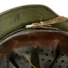 show larger image of product view 15 : Original German WWII Army Heer M35 Single Decal Steel Helmet with Buffed Original Paint - SE62 Original Items
