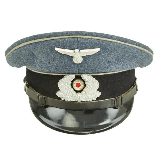 Original German WWII DRB Bahnschutzpolizei Railway Police Visor Cap by Clemens Wagner - 58cm Original Items