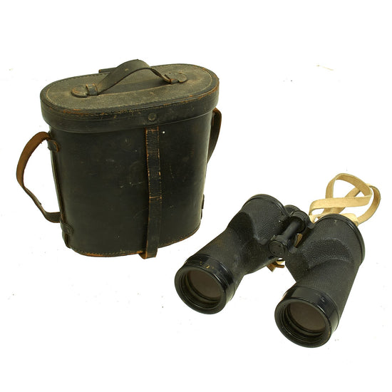 Original WWII U.S. Navy Bu. Ships Mark 28 Mod.0 7x50 Binoculars by Bausch & Lomb with Case - Dated 1943 Original Items