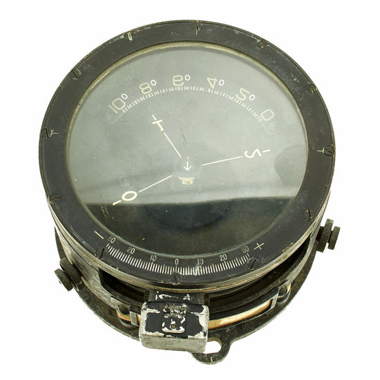 "Original Japanese WWII Type 2 Kai Aircraft Compass for the Mitsubishi Navy Type 1 G4M ""Betty"" Bomber Original Items"