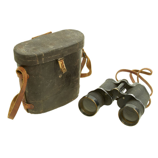 Original WWII Imperial Japanese 7X50mm 7.1° Binoculars by YASHIMA with Carry Case Original Items