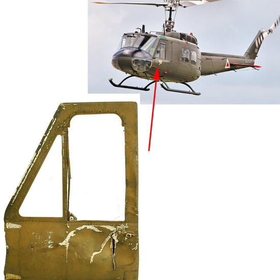 Original U.S. Vietnam War Bell UH-1 Iroquois Huey Left Side Front Door and Panel Original Items