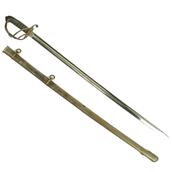 Original British Victorian P-1889 VR-Marked Infantry Sword with Steel Scabbard Original Items