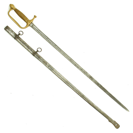 Original U.S. Civil War M-1840 Musicians Sword with Scabbard by Ames Mfg. Co. - Dated 1863 Original Items