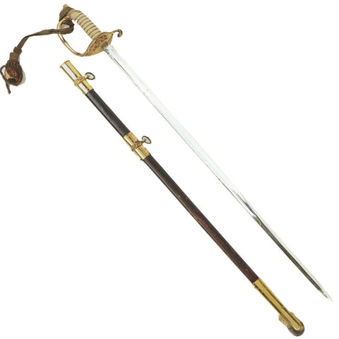 Original Mid-Late 20th Century U.S. Navy Model 1852 Officer's Sword with Scabbard and Portepee Original Items