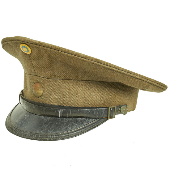 Original Swedish WWII Army Officer Peaked Visor Cap Original Items