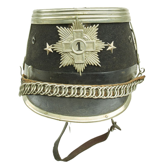 Original Swiss WWI Cavalry Officer Shako Helmet Marked to the 1st Cavalry Original Items
