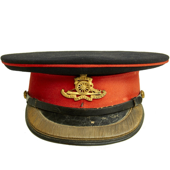 Original British WWII Royal Artillery Officer Major Parade Visor Cap Original Items