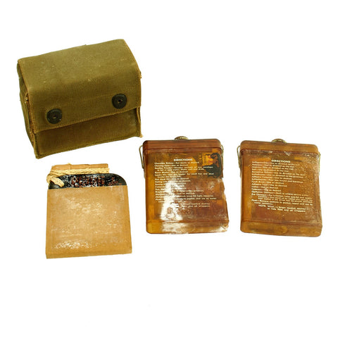 Original U.S. WWII Army Air Corps Emergency Sustenance Type E-17 Kit - Unissued Original Items