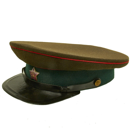 Original Soviet Russian Cold War 1955 Dated RKKA Artillery and Tank Officer Model 1935 M35 Hat Original Items