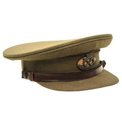 Original British WWII South Staffordshire Regiment Officer Peaked Visor Cap Original Items