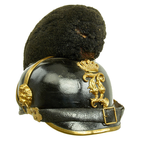 "Original 19th Century Bavarian Raupenhelme Cavalry Helmet from the Reign of ""Mad King"" Ludwig II Original Items"