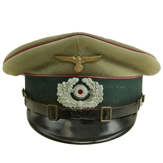 Original German WWII Army Heer Smoke & Chemical Troops EM & NCO Visor Cap by Spezialhaus Globus Original Items