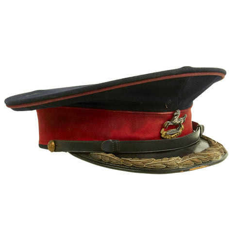 Original British WWII The King's Liverpool Regiment Colonel Parade Visor Cap Original Items