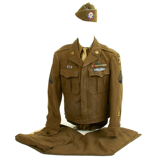 Original U.S. WWII Named 505th Parachute Infantry Regiment Uniform Original Items